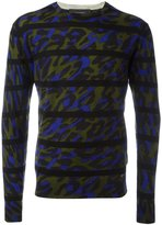 DSQUARED2 striped zebra print jumper - men - Wool - S