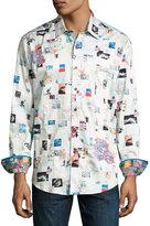 Robert Graham Badlands Woven Button-Front Shirt, Multi