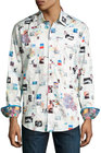 robert graham badlands woven buttonfront shirt multi