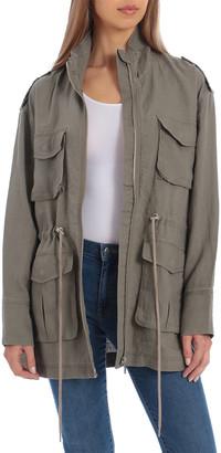 AVEC LES FILLES Utility Linen Jacket