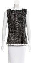 Chanel Embellished Tweed Top
