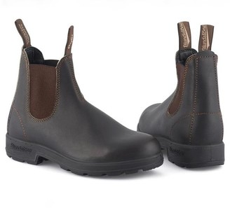 Blundstone Stout Brown 500 Original Leather Boot - UK4 - Brown/Black