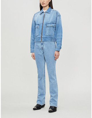 The Kooples Sport Flap-pocket denim jacket