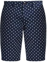Blue Blue Japan Slim-leg polka-dot cotton shorts