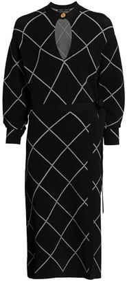 Proenza Schouler Knit Keyhole Wrap Dress