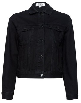 Dorothy Perkins Womens Dp Petite Black Denim Jacket, Black
