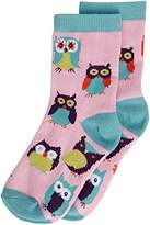 Hatley Girl's Party Owls Crew Socks,7 Years (Manufacturer Size:Large (4-7 Years))