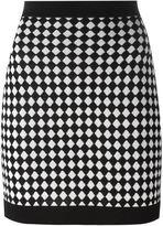 Balmain checked knit skirt