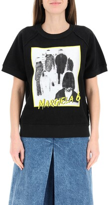 MM6 MAISON MARGIELA Reversed Short-Sleeve Sweatshirt