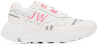 Junya Watanabe White and Pink Hi-Tec Edition Synthetic Leather Sneakers