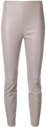 Lorena Antoniazzi Faux-Leather Skinny Trousers