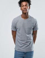 Selected T-Shirt With Melange Stripe And Pocket