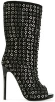 Philipp Plein star studded booties - women - Leather/Suede - 36