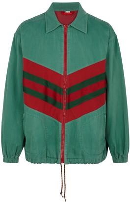 Gucci Green panelled denim jacket