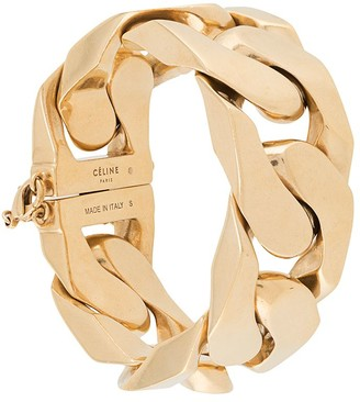 Céline Pre Owned 1980s Pre-Owned Chunky Curb-Link Bracelet