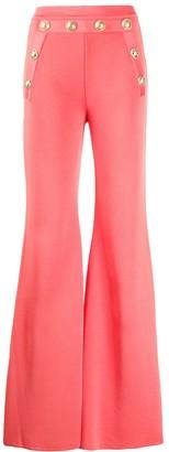Balmain High-Waisted Flared Trousers