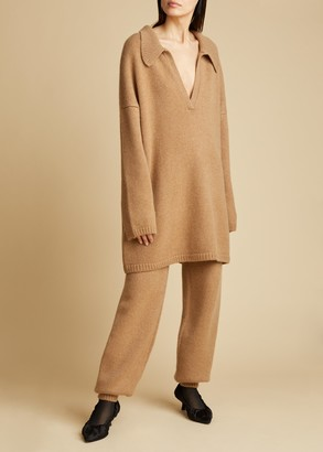 KHAITE The Joey Pant in Camel