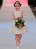 Oscar de la Renta Cherie Origami Ruffle Taffeta Dress