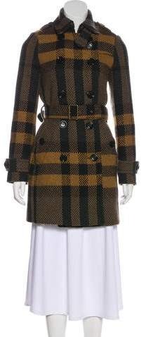 Burberry Wool Exploded Check Coat