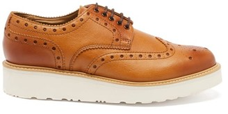 Grenson Archie Faux-leather Brogues - Mens - Tan