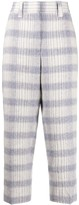 Acne Studios Grid Pattern Cropped Trousers