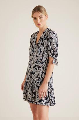 Seed Heritage Paisley V-Neck Dress