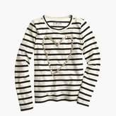 J.Crew Girls' heart gem T-shirt in stripe