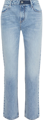 RtA Luke Cropped Distressed Mid-rise Slim-leg Jeans