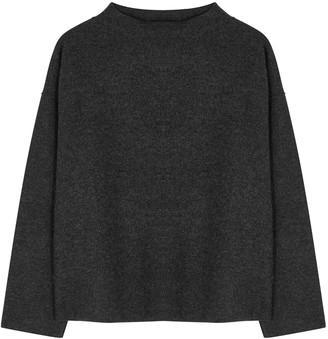 Eileen Fisher Charcoal Boiled Wool Jumper