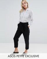 Asos Woven Peg Pants with Obi Tie Black in Shorter Length