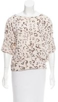 BCBGMAXAZRIA Jayne Animal Print Top