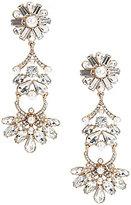 Belle Badgley Mischka Faux-Pearl & Crystal Clip-On Statement Linear Drop Earrings