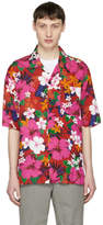 Ami Alexandre Mattiussi Red Floral Shirt