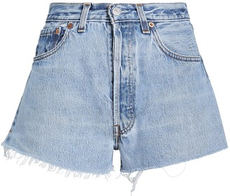 RE/DONE The Cut-Off Denim Shorts
