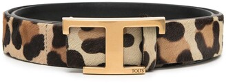 Tod's Timeless animal-print belt