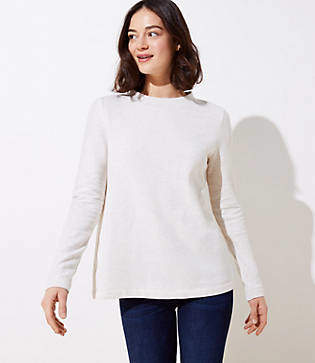 Petite Button Back Sweatshirt