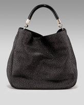 Raffia Hobo Bag