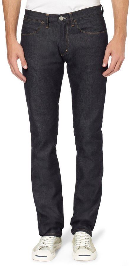 Acne Studios Max Raw Slim-Fit Dry-Denim Jeans