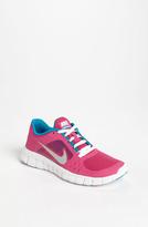 Nike 'Free Run 3.0' Running Shoe (Big Kid) Polarized Pink/ Black/ White 5 M