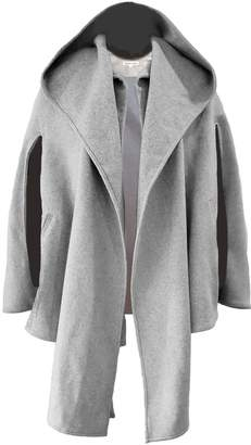 Grey Hooded Cape Coat