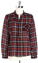 ROMEO AND JULIET COUTURE Plaid Hi-Lo Blouse