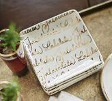 Pottery Barn Fa la la Appetizer Plate, Set of 4