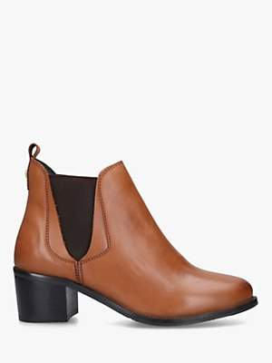 Carvela Comfort Ronald Block Heel Leather Ankle Boots