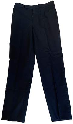 Thom Browne Navy Wool Trousers