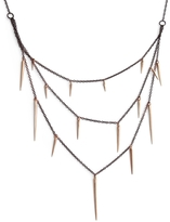 Marion Cage Small Point Three-Tier Necklace - Rose Gold