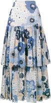 Chloé tiered floral print skirt - women - Silk/Cotton - 34