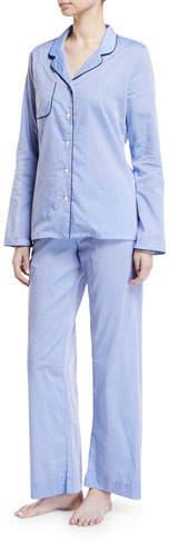 Derek Rose Amalfi Piped Pajama Set
