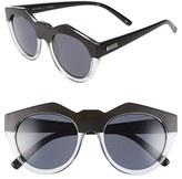 Le Specs Women's 'Neo Noir' 53Mm Oversized Sunglasses - Black Rubber