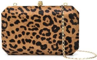 Tyler Ellis Lily leopard print clutch bag