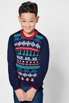 boohoo Boys All Over Christmas Jumper